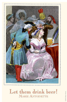 Let them Drink Beer - Marie Antoinette 20x30 poster contemporary-prints-and-posters