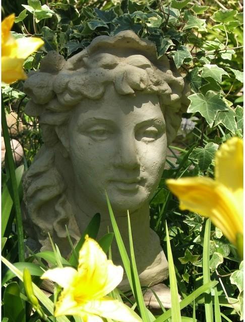 Designer Stone Lady 39 S Head Planter Refined 2028