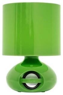 Green Desk Lamps: 8.5 in. Green LED Speaker Desk Lamp iHL106-Green contemporary-table-lamps