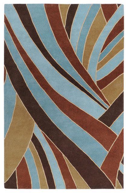 "Surya Forum FM-7002 9'9"" Square Chocolate Rug contemporary-rugs"