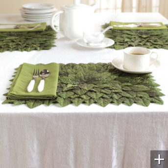 Rose Leaf Easter Place Mats contemporary-placemats
