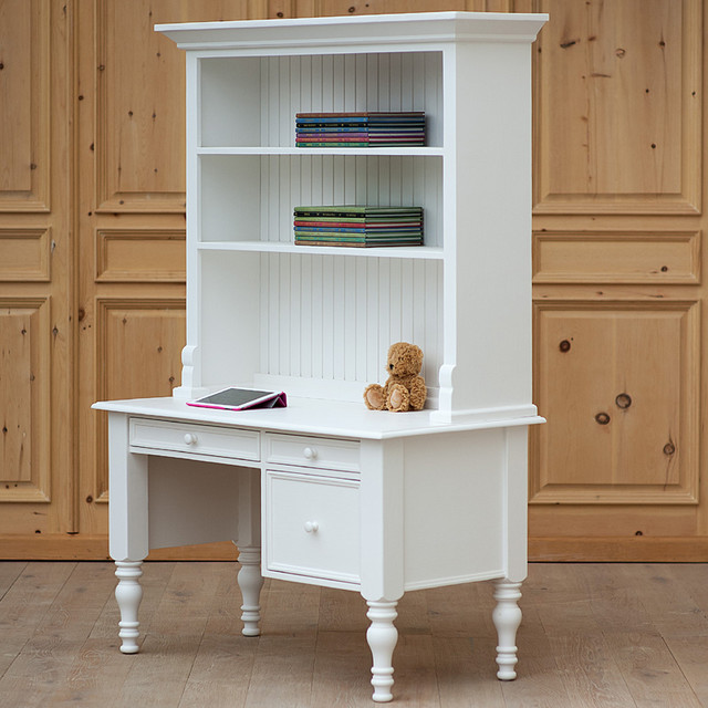 Small Library Desk with Hutch - Modern - Desks And Hutches - by