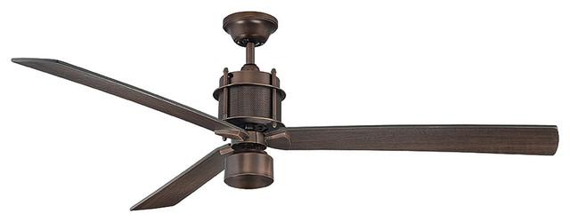 "Savoy House Byzantine Bronze Ceiling Fan 56"" Wide Muir 56"" 3 Blade Ceiling Fan modern-ceiling-fans"
