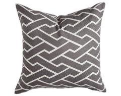 Charcoal City Maze Pillow contemporary-decorative-pillows