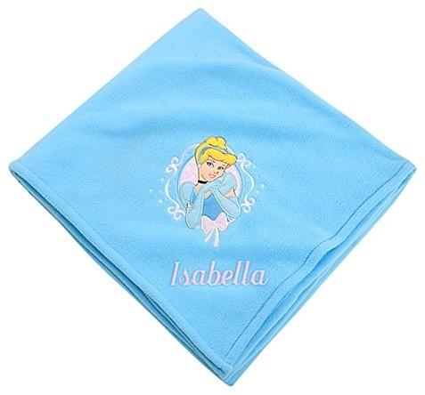 Personalizable Fleece Throw Cinderella Blanket contemporary-kids-bedding