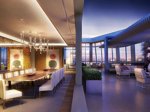 St. Regis Penthouse, San Francisco ~ Dining Room contemporary
