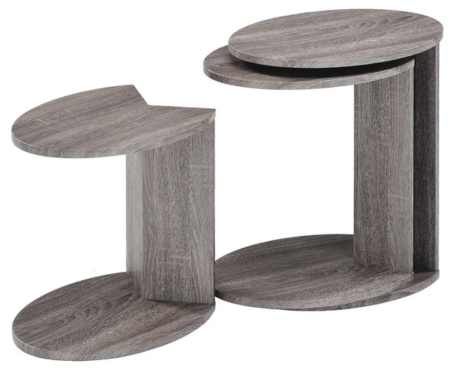 Minto Reclaimed Wood Nesting Table contemporary-side-tables-and-end-tables