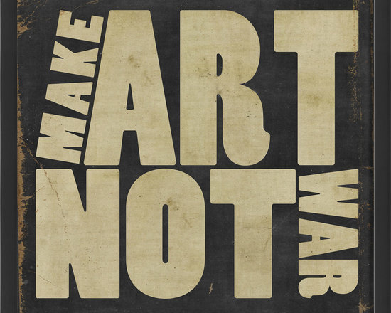 """The Artwork Factory - """"Make Art Not War"""" Print - Ready-to-Hang, 100% Made in the USA, museum quality framed artwork"""