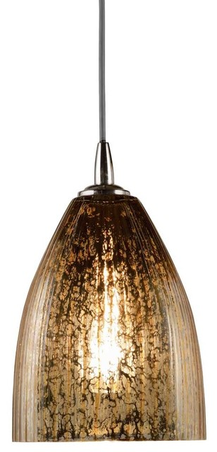 Italian Gold Dome Pendant modern-pendant-lighting