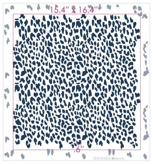 Leopard Print Reusable Wall Stencil By Diy Stencils