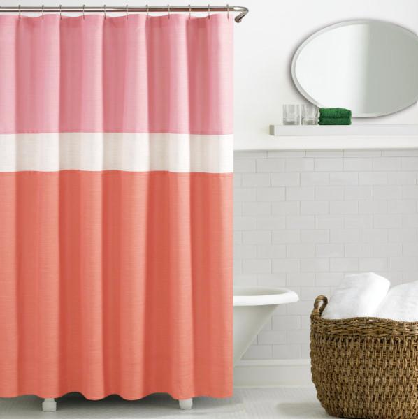 gallery for coral shower curtain