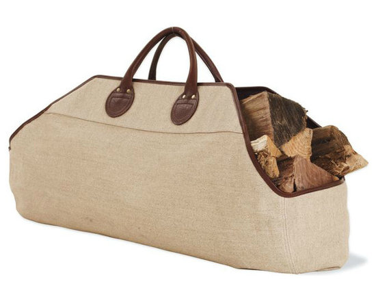 Wood Carrier - Wood hauling is made simple with this quality linen and Teflon carrier created in the 153-year-old tradition of the Belgian weaver.