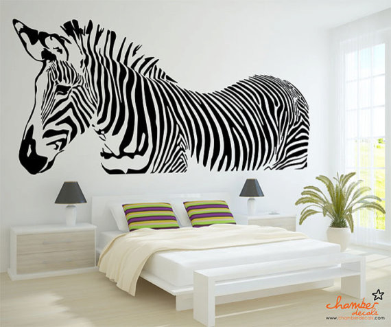 Zebra Stripe Wall Decals Custom Vinyl Decals - Zebra stripe wall decals