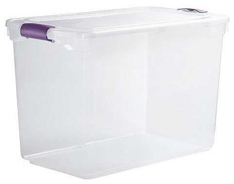 ... Large Clear Storage Bins, Set of 6 contemporary-storage-bins-and-boxes