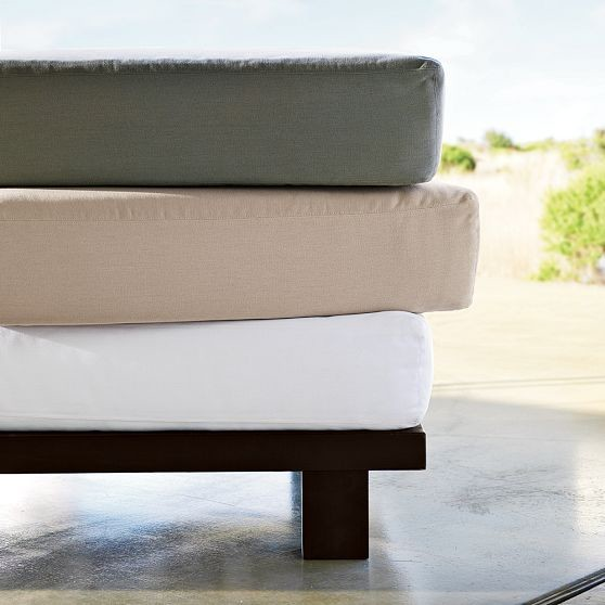 Tillary Outdoor Modular Seating Cushion Covers - Modern - Outdoor Cushions And Pillows - by West Elm