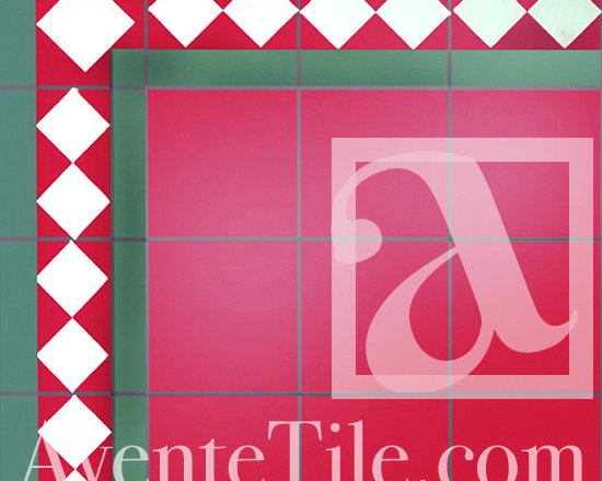 "Traditional Arlequin Cement Tile 8"" x 8"" -"