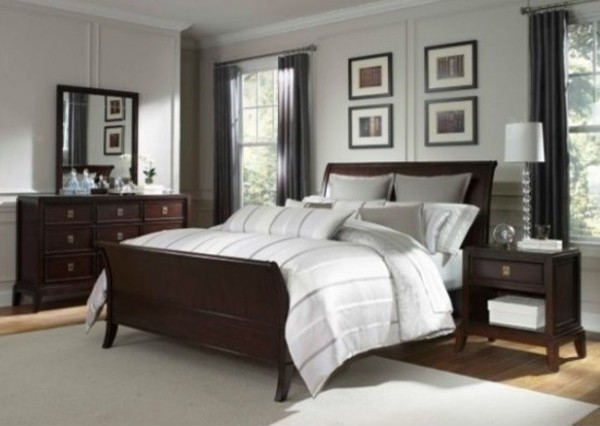 Broyhill Antiquity California King Sleigh Bed 8053 262ck Traditional Bedroom Furniture