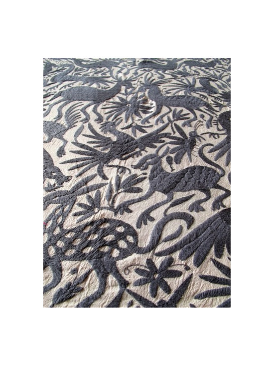 Mexican Coverlet, Gray -