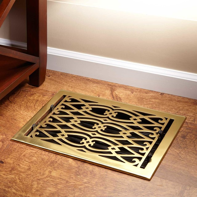 Oversized Victorian Brass Floor Register - Contemporary - Registers Grilles And Vents - by ...