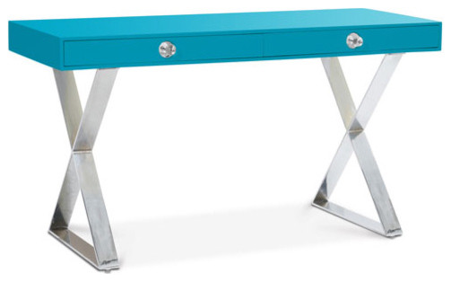 Turquoise Channing Desk Modern Desks And Hutches By