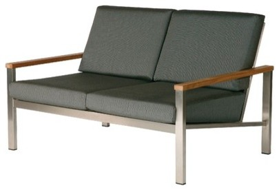 Equinox Loveseat with Cushions modern-outdoor-sofas