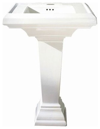 Square Bathroom Sinks on Standard Town Square 0790100 Pedestal Sink Contemporary Bathroom Sinks