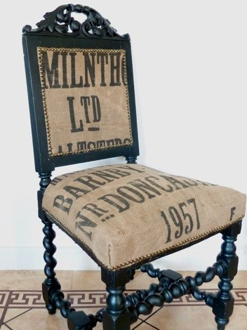 Vintage 1957 Doncaster Sack Grain Chair eclectic-living-room-chairs