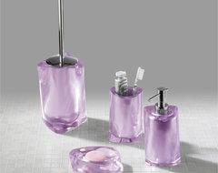 Twist Lilac Bathroom Accessories contemporary-bathroom-accessory-sets
