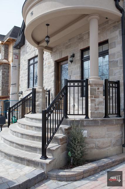 Aluminum front porch railings for Front balcony railing