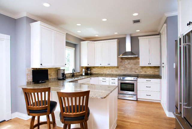 Traditional White Kitchen – MDF Paint - Traditional - other metro - by Custom Cupboards