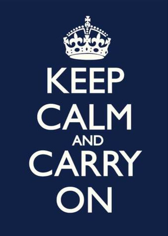 Keep Calm and Carry On Print eclectic artwork