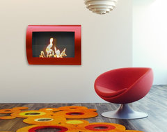 Chelsea Wall Mount Bio Ethanol Fireplace - Anywhere Fireplace contemporary-indoor-fireplaces