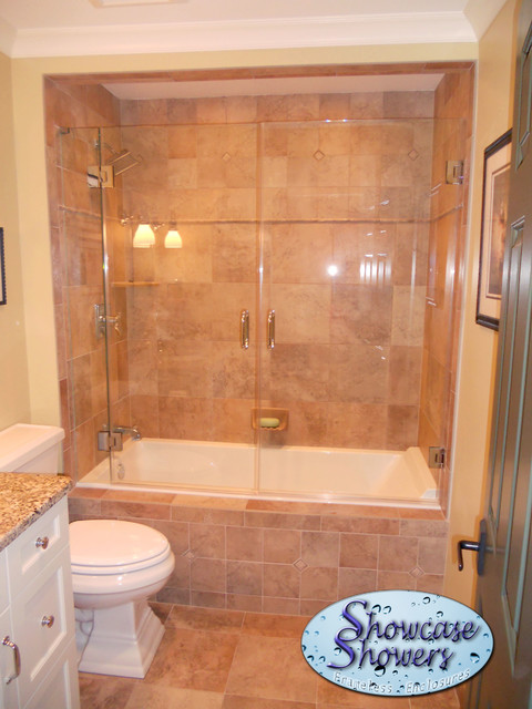 Heave shower doors shower doors louisville by for Shower bathtub combo designs