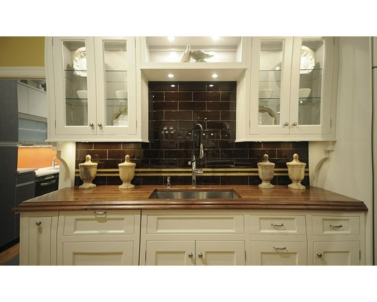 Walnut Kitchen Countertop with Undermount Sink. Designed by Vincent Cappello - http://www.glumber.com/