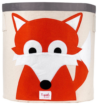 Fox Storage Bin eclectic toy storage