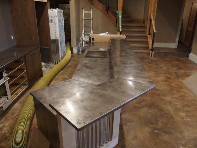 Metal Countertops   Choices And Considerations Stainless Steel BAR  Countertops   Contemporary   Kitchen Countertops .