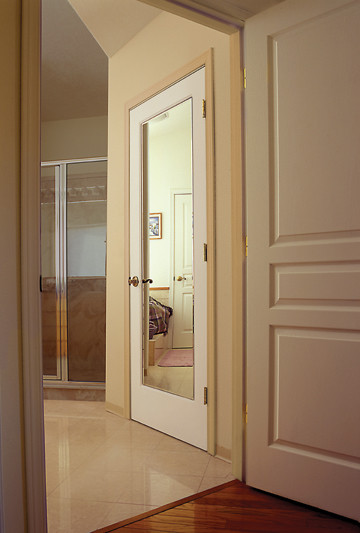 Mirror Impression Door Modern Interior Doors Orange