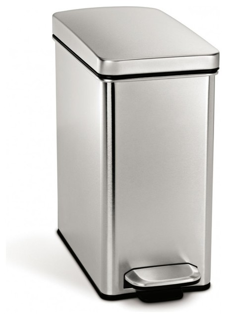 Profile Step Can Contemporary Trash Cans By Simplehuman
