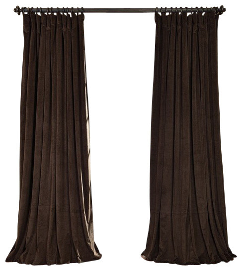 Signature Java Doublewide Blackout Velvet Curtain traditional-curtains