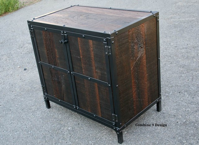 Mid Century Modern Nightstand/End Table. Vintage Industrial. (Liquor Cabinet) R - Midcentury ...
