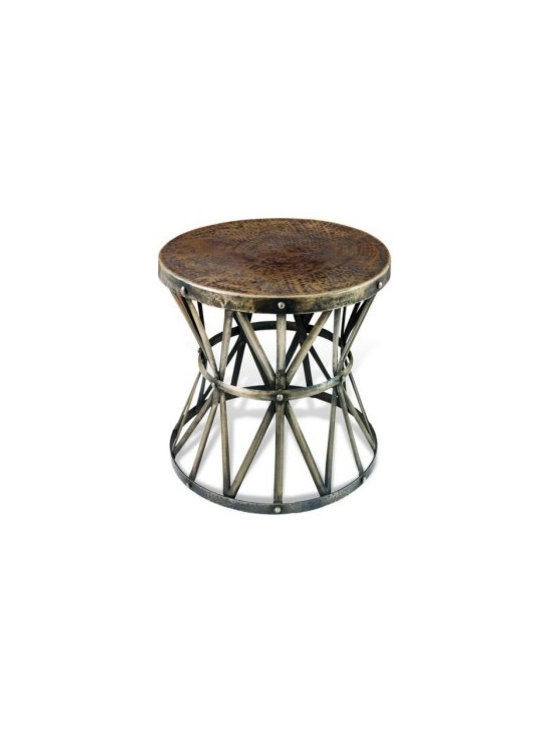Unique Furniture - Side Tables that WOW! - Rustic Iron Side Table -- If you want to compliment your living room décor with a functional yet interesting furniture piece, this rustic Old World side table is for you.