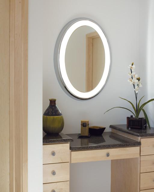 Bathroom Mirrors Illuminated: Tigris Oval Lighted Vanity Mirror