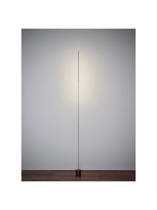 Catellani & Smith - Light Stick 6-light Floor Lamp - Light Stick 6-light Floor Lamp features a burnished metal base and a nickel-plated copper stick. Includes six 1-watt, 120 volt LED lamps which choice of Warm White 2800K or Neutral White 4100K color temperature. LED driver is also included. Dimensions: 3.1 inch width x 72 inch height.