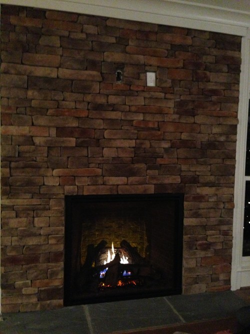 Tv above fireplace without a mantle help Fireplace ideas no fire