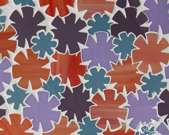 Erin Adams - Flowers - Flowers, a glass waterjet mosaic shown in Sonia, Rolly, Sardonyx and Alexander, is part of the Erin Adams Collection for New Ravenna Mosaics.