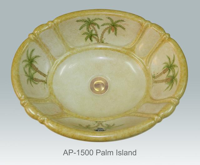 Hand Painted Drop In Sinks By Atlantis Tropical