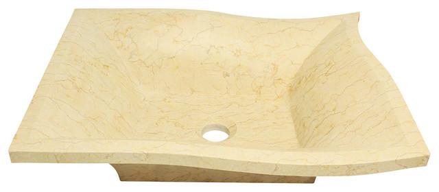 MR Direct 859 Egyptian Yellow Marble Vessel Sink bathroom-sinks