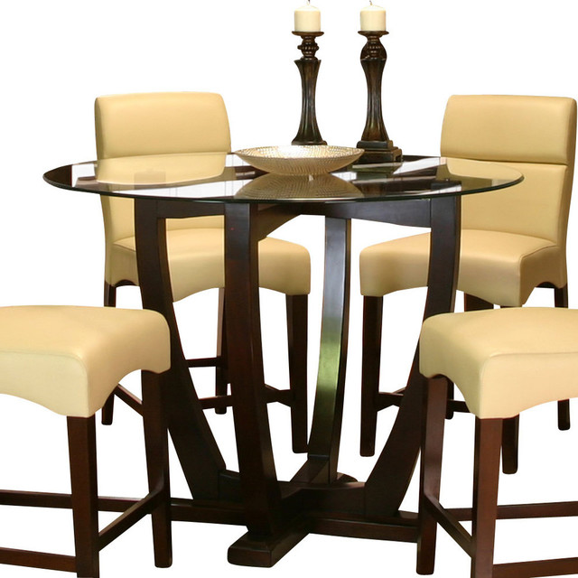 Counter Height Glass Dining Table Set : All Products / Dining / Kitchen & Dining Furniture / Dining Sets