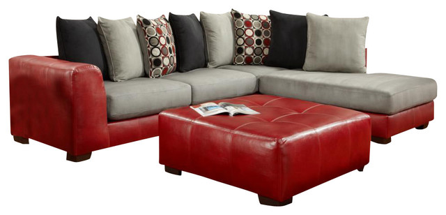 Chelsea Home Clarion 2-Piece Sectional Living Room Set in Sierra Red traditional-sectional-sofas