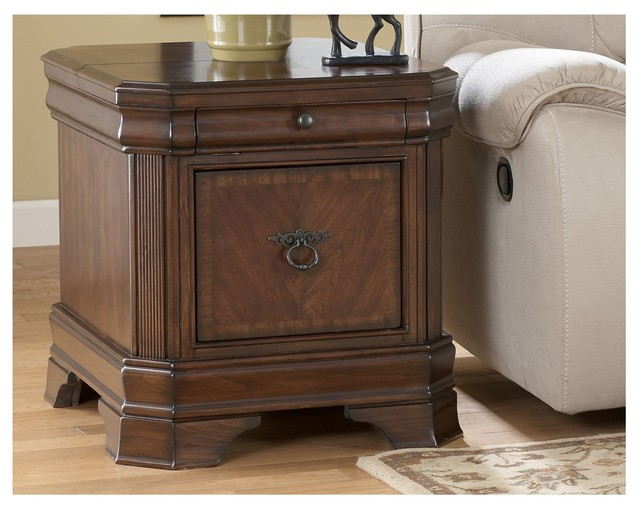 Hamlyn storage end table traditional side tables and end tables los angeles by living spaces Traditional coffee tables and end tables